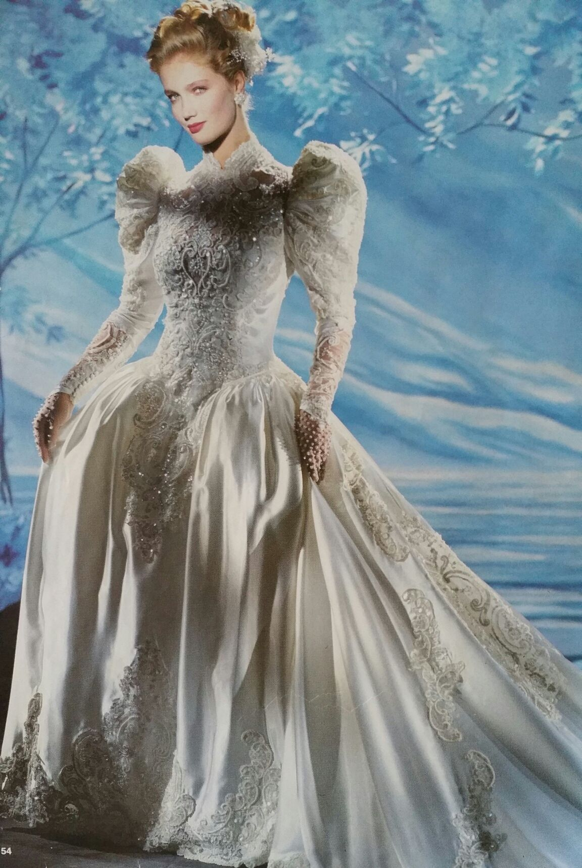 Demetrios 1990/1991 | Vintage Wedding Gowns | Pinterest