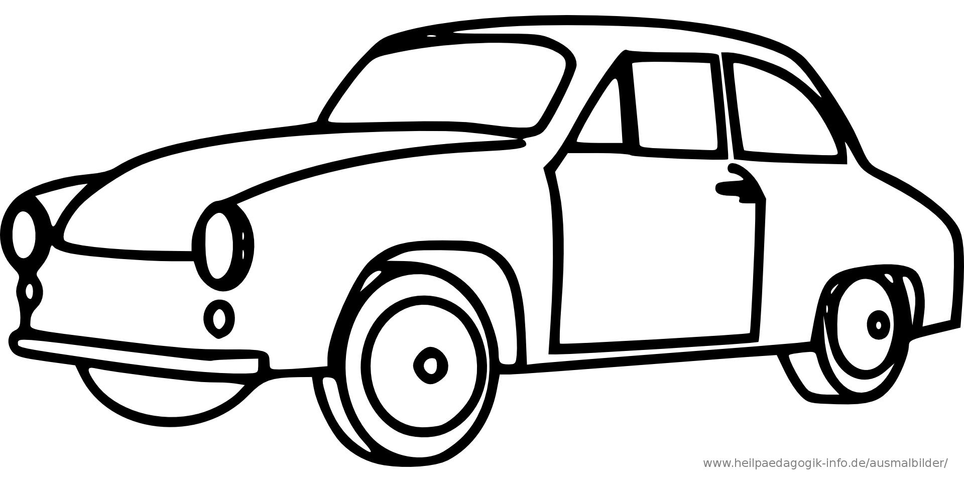 malvorlage auto einfach  ausmalbilder für kinder