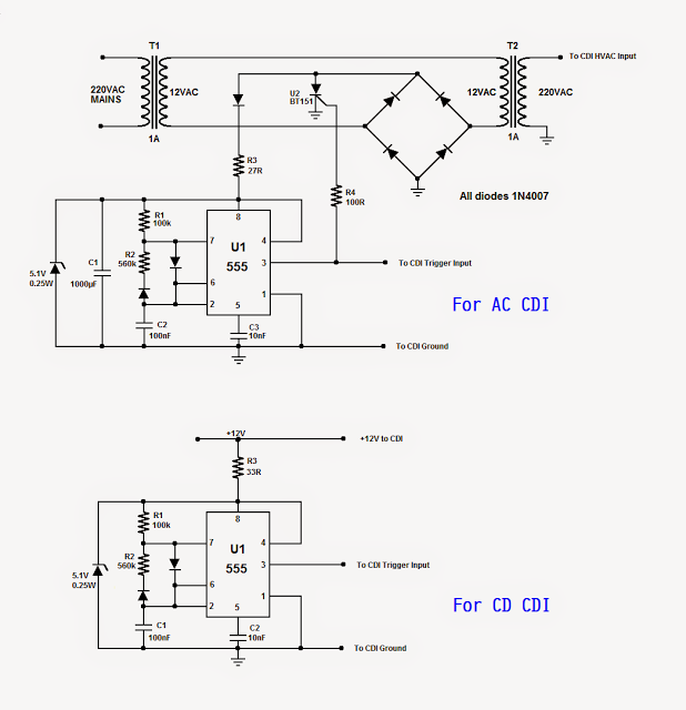 Here we study a basic DC CDI circuit for motorcycles