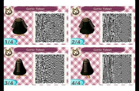 Gothic Fishnet Animal Crossing Animal Crossing Qr Codes Clothes