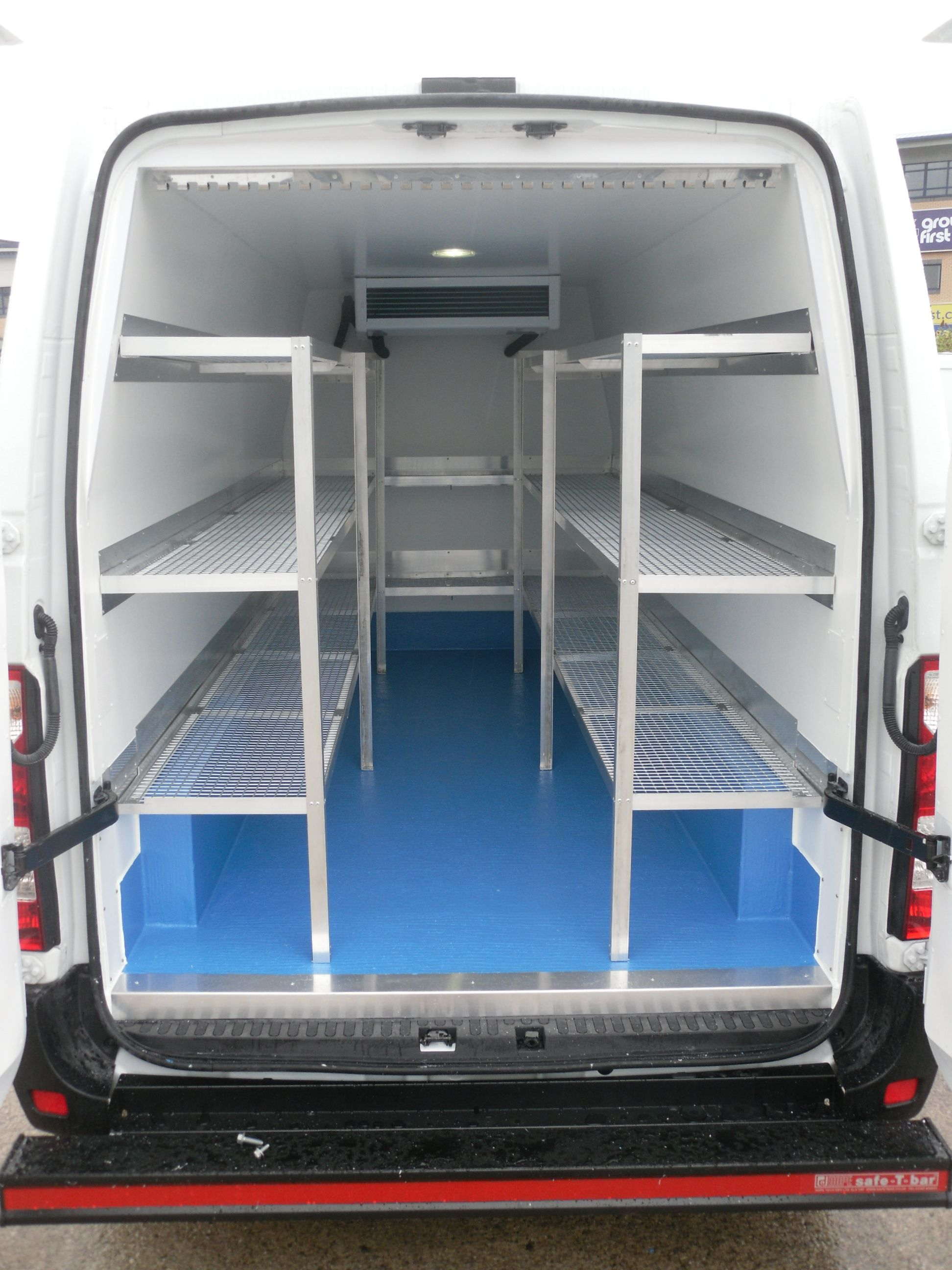 Refrigerated Van Shelving I Like The Concept Of Having Removable Shelving This Will Allow Us To Transport Pretty Much Anythi Van Shelving Shelving Shelves