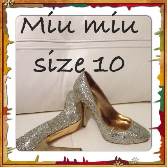 Miu miu authentic pumps Used, wear on sole Prada Shoes Heels