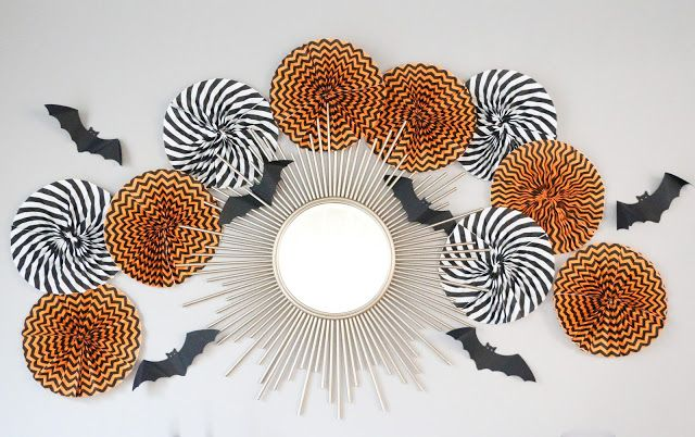 DIY It - Halloween Paper Fans Fans, Decoration and Holidays - halloween cute decorations