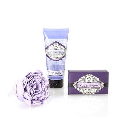 Another great find on #zulily! Lavender & Chamomile Aromatherapy Shower Set #zulilyfinds