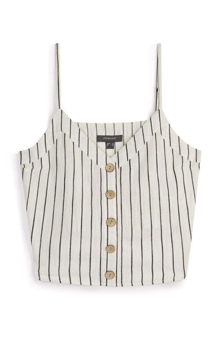 primark - stripe linen cami   primark outfit, primark tops