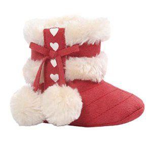9376bdf990f85 Yogogo Filles Bottes de neige – bébé – Semelles souples – Crib Chaussures – Bottes  Toddler
