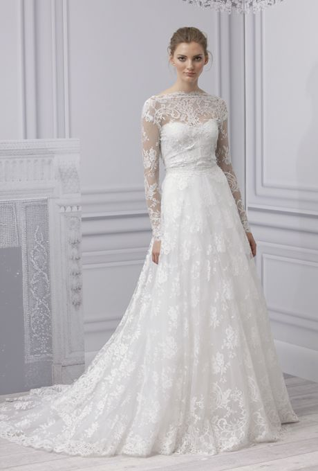 From Short And Flirty To Full Ball Gown The Monique Lhuillier Wedding Dresses Of 2017