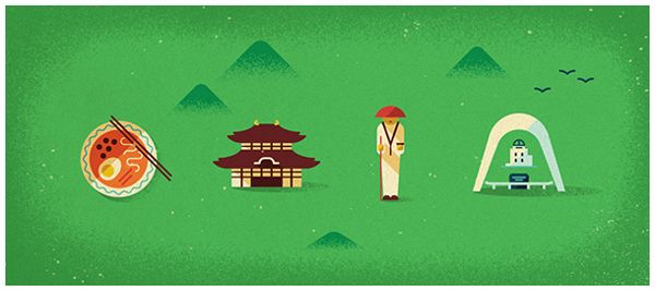 Japan map illustrations for Monocle Magazine8