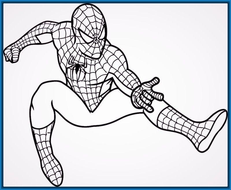 Spiderman Para Colorear En Linea: Dibujos Para Colorear Batman Y Spiderman