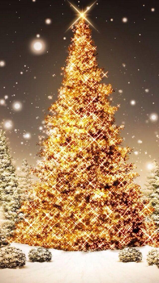 Gold Christmas Tree Wallpapers Christmas Tree Wallpaper