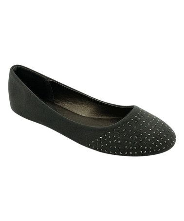 This Gray Stud Ballet Flat by Ositos Shoes is perfect! #zulilyfinds