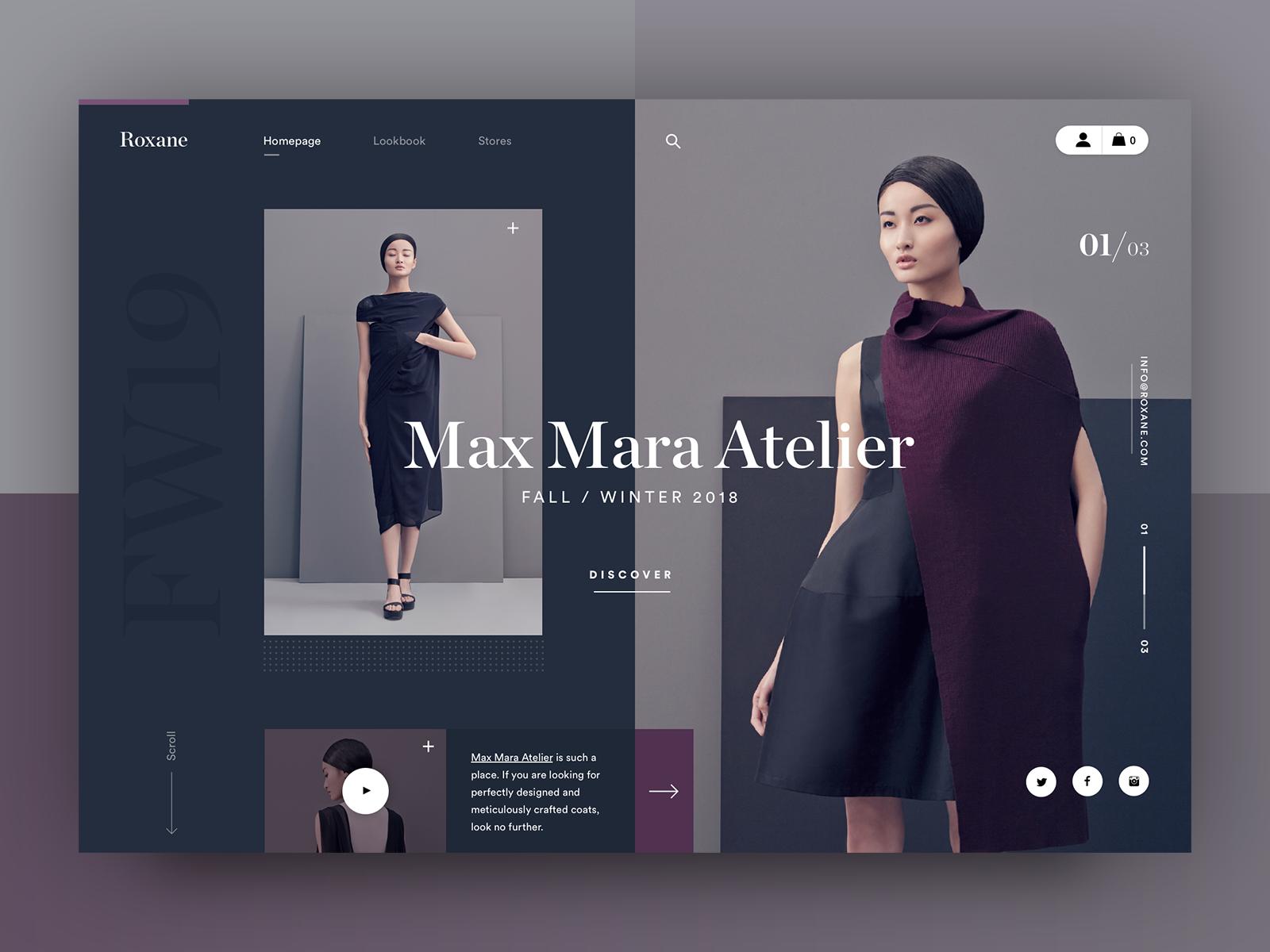 Roxane fashion store - Fall/Winter | Web design inspiration, Minimal  website design, Fashion store