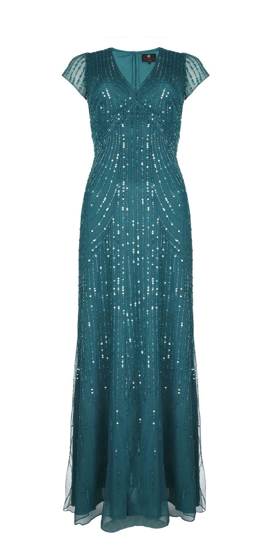 Aria beaded long dress teal aria beaded long teal dress