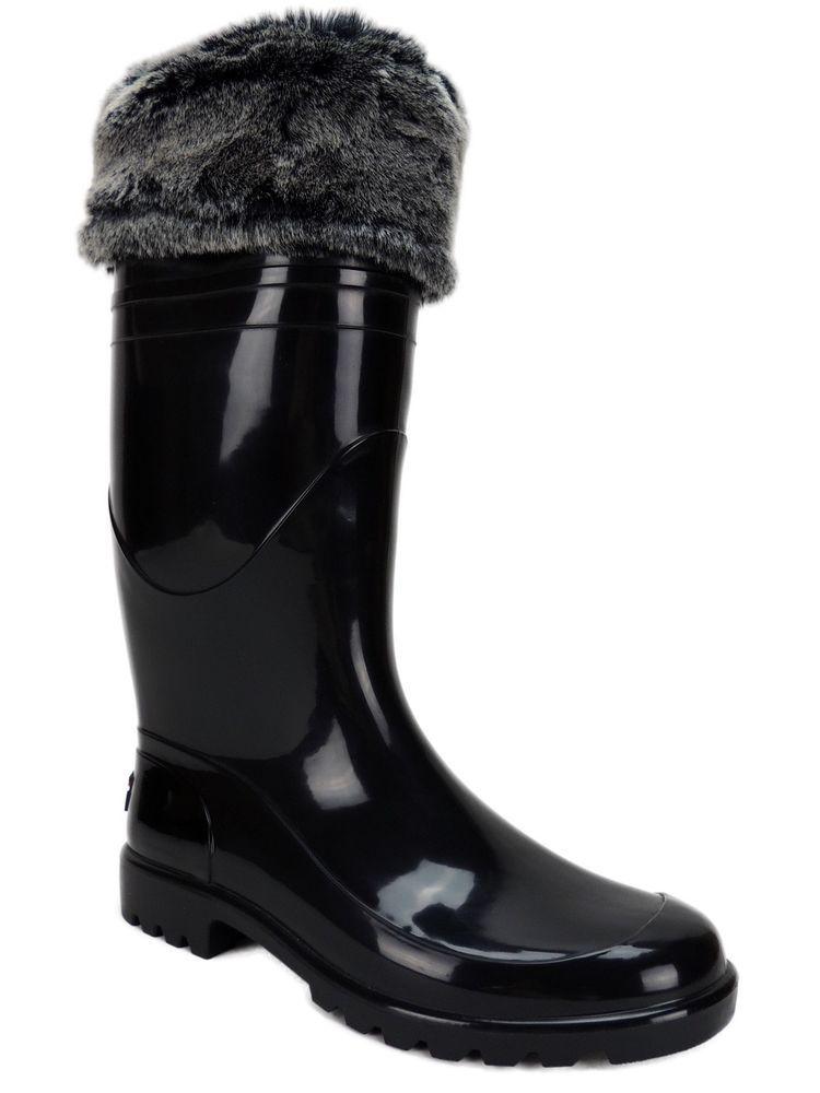 Tommy Hilfiger Women's Matty Cuffed Rain Boots Black Multi Size 9 M #TommyHilfiger #Rainboots #ColdWeatherWinter