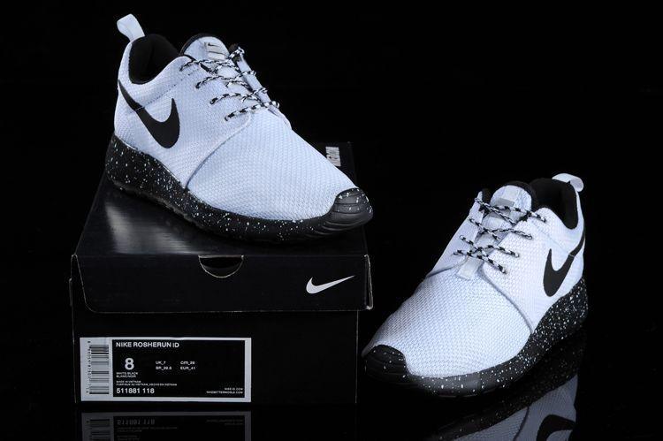 lowest price Mens Nike Roshe Run Id 2015 511881 118 White White Black running  2015 shoes