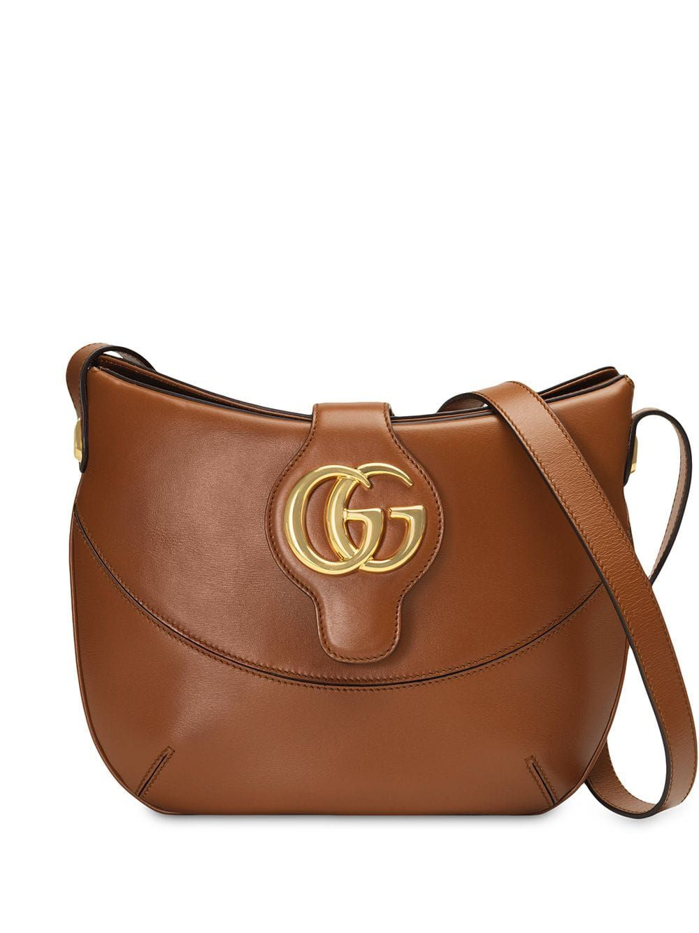 2cc7d0481 Gucci Arli medium shoulder bag - Brown in 2019 | Products | Leather ...