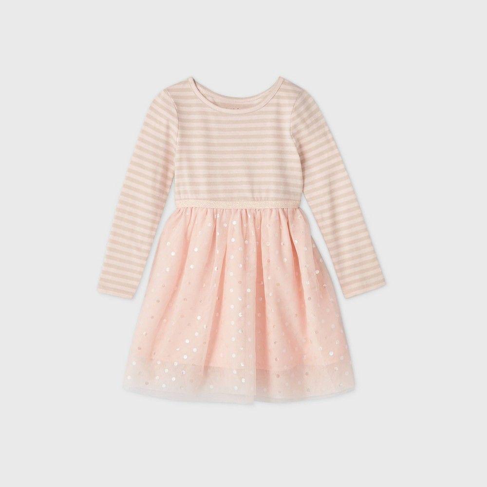 Toddler Girls Sparkle Tulle Long Sleeve Dress Cat Jack Light Pink 4t Pink Long Sleeve Dress Long Sleeve Dress Girls Dresses Online [ 1000 x 1000 Pixel ]
