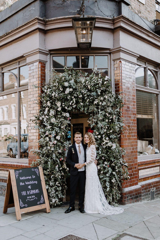 Stunning Chloe Pub Wedding London Bride Wedding