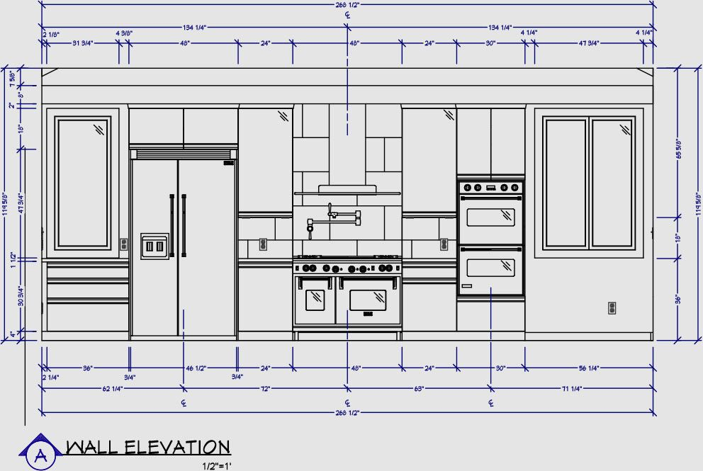 Elevation Plan Of Kitchen : Kitchen wall elevation dimensions pinterest kitchens