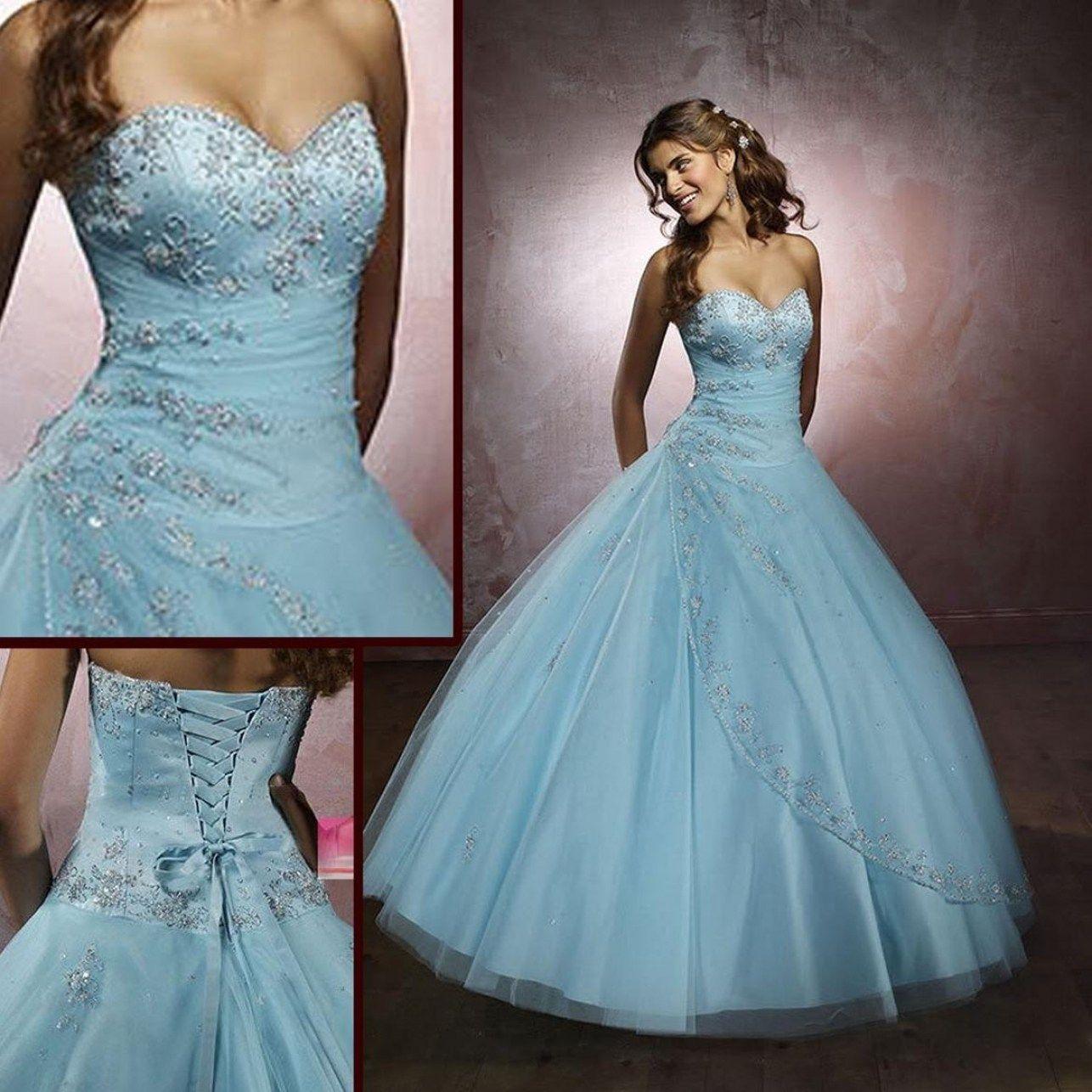 34 Beautiful Light Blue And White Wedding Dresses Best Inspiration Popular Wedding Dresses Baby Blue Wedding Dresses Plus Size Wedding Guest Dresses