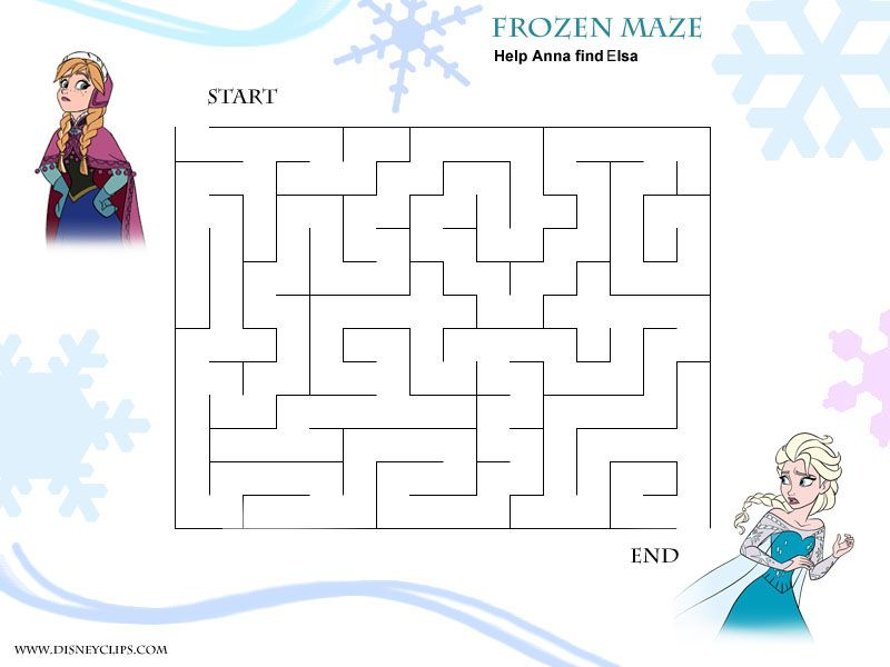 Easy Printable Frozen Maze Disney Mazes