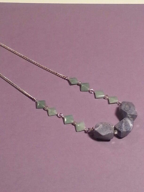#SOLD Granite Silver Aventurine Necklace To order send request to: peacejunky78@gmail.com Peace, Blessings, & Jewels!