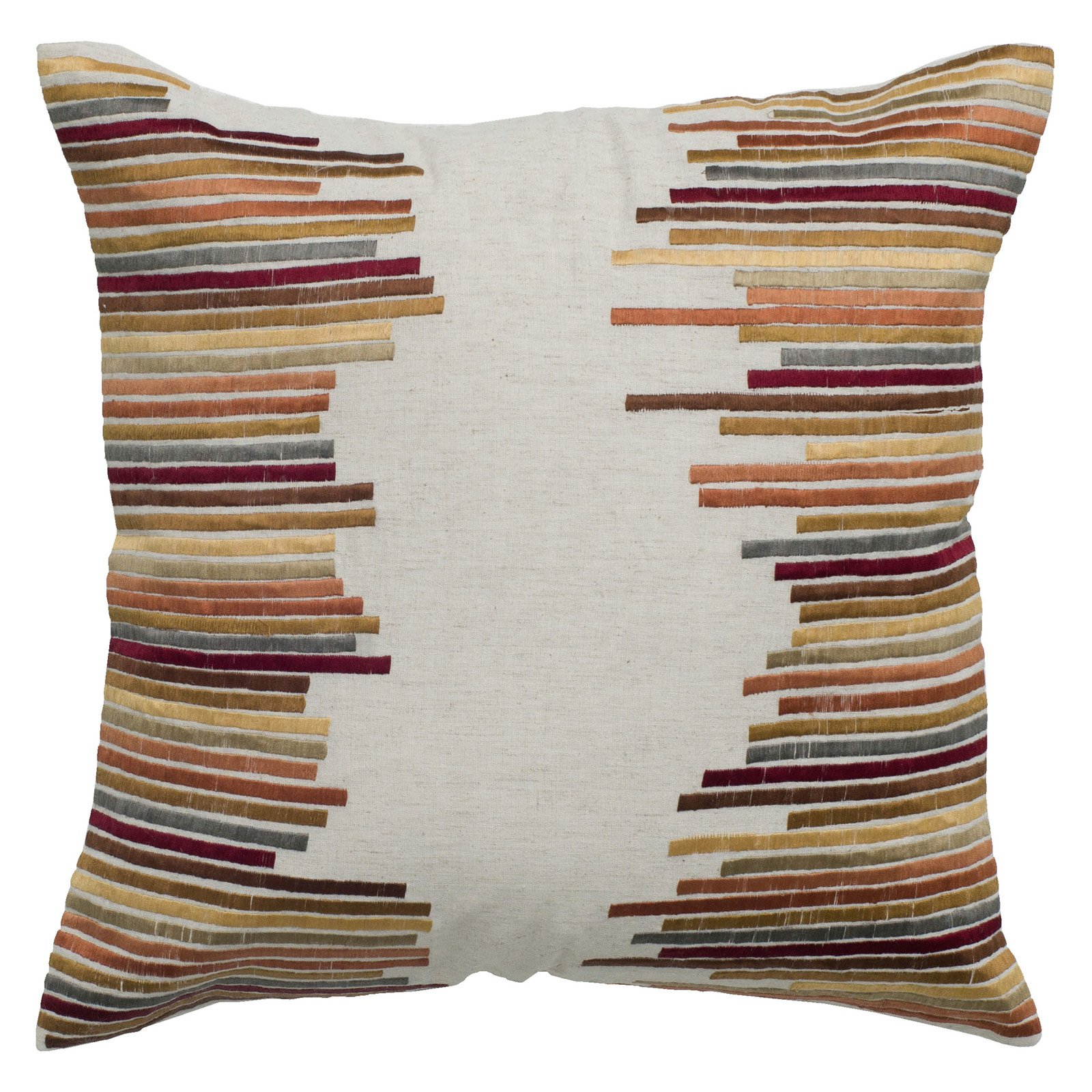 Rizzy Home Beige Color Stack Decorative Throw Pillow | from hayneedle.com