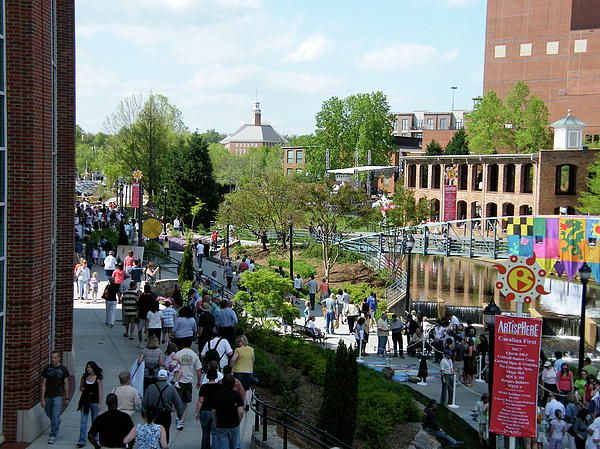 Artisphere in Downtown Greenville, SC In May every year