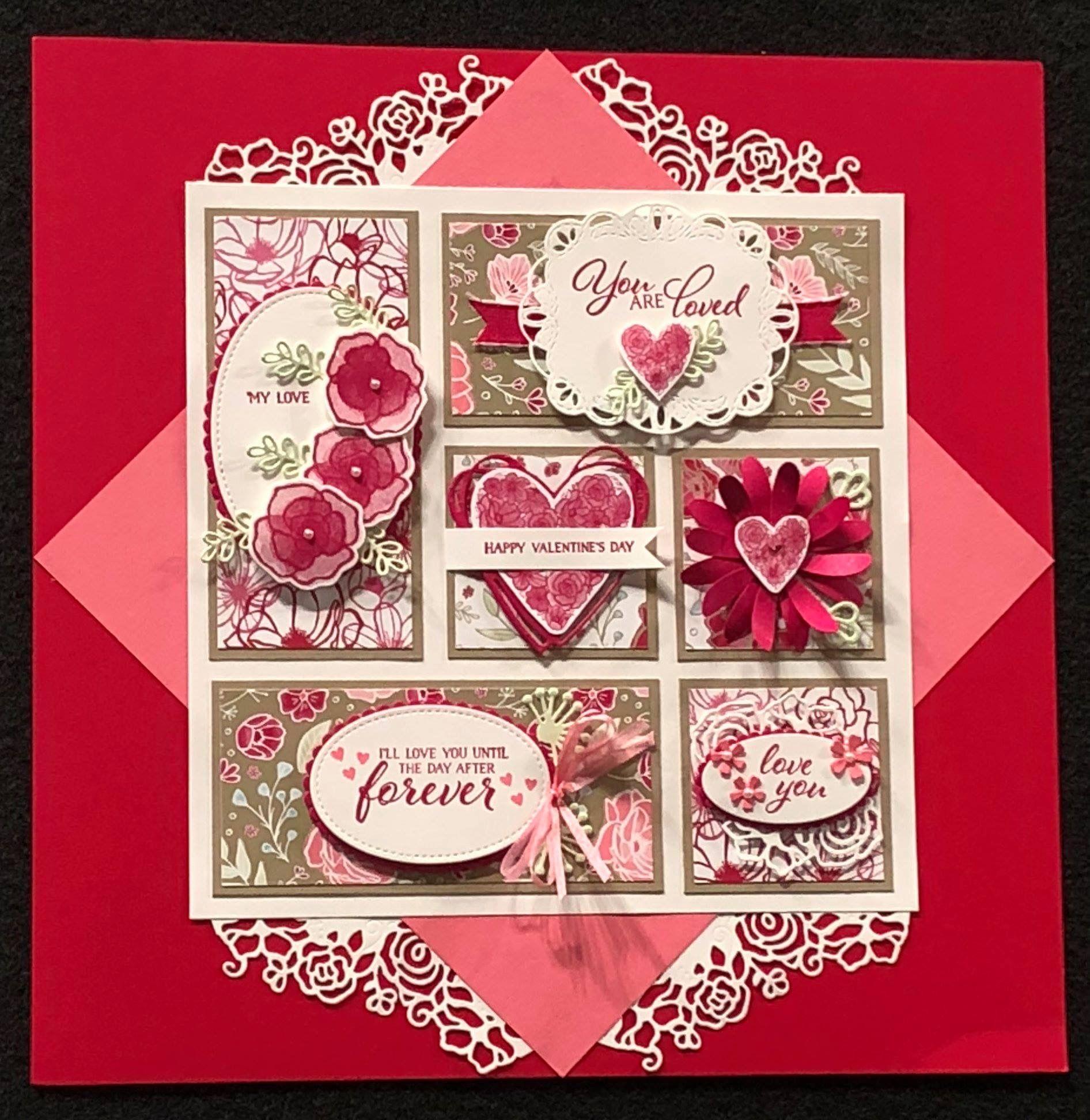 pinjuleen henderson on stampin up sampler  valentine