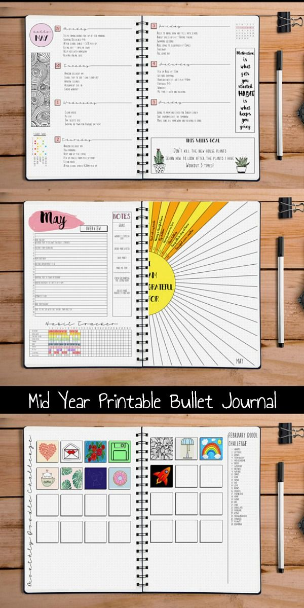 Creative Organization: Mid Year 2018-2019 Bullet Journal ...