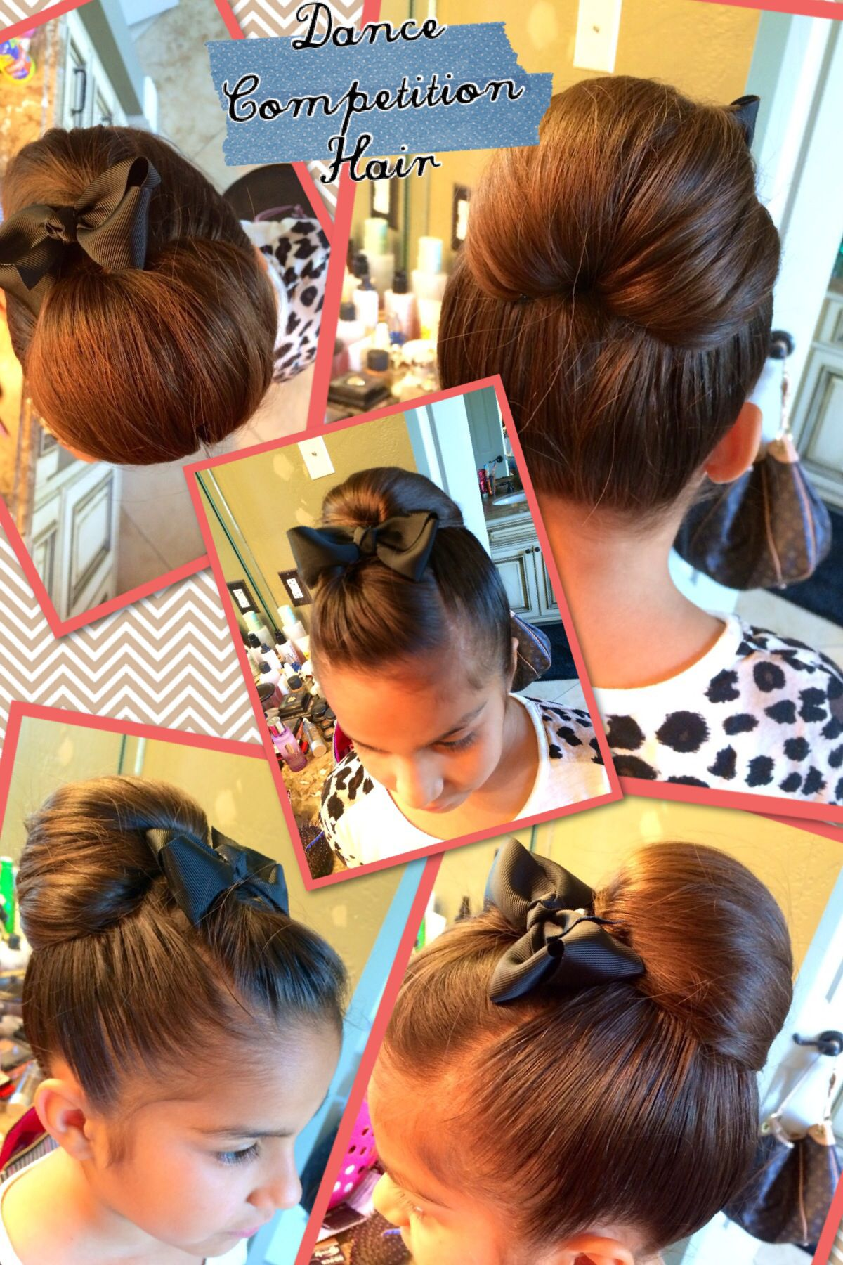 High Chignon Trying Out A New Dance Competition Hairstyle For Maya S Solo Highchignon Dancehair Dance Hairstyles Competition Hair Dance Competition Hair