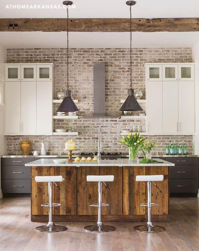 Sense Of Place Craycroft House Exposed Brick Kitchen Kitchen