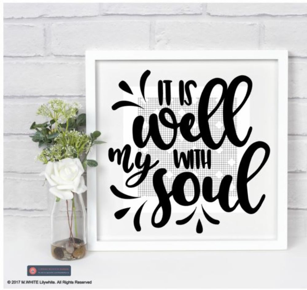 It is well with my Soul - Vinyl Sticker for Box Frame ...