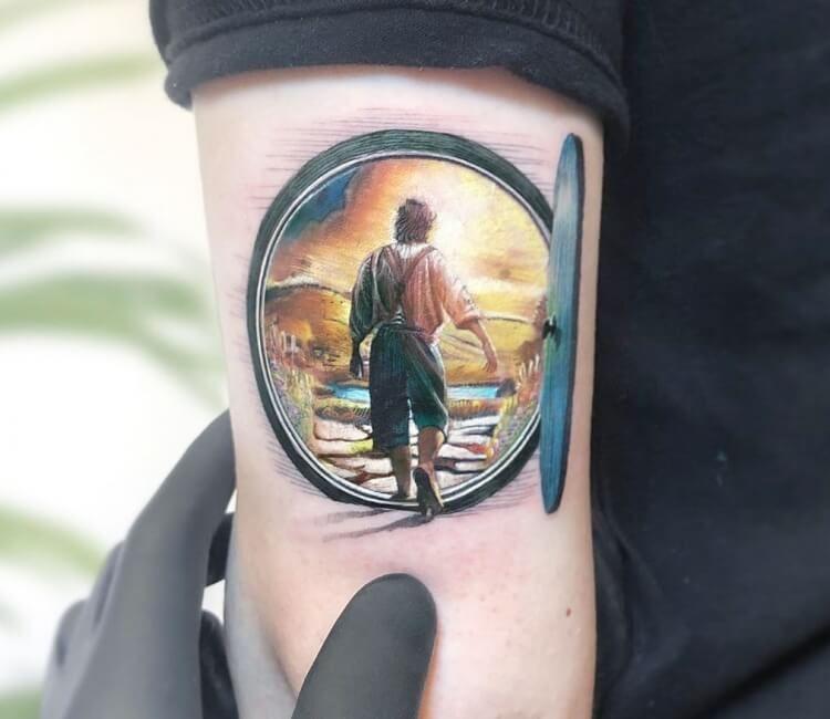 The Hobbit Tattoo By Kozo Tattoo Post 30424 In 2020 Hobbit Tattoo Lord Of The Rings Tattoo Tattoo Artists