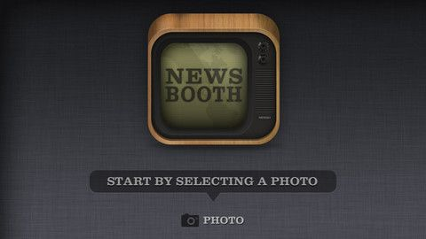 NewsBooth app.  Choose one of your own photos and make it look like it came from a news show