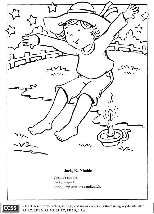 Boost Mother Goose Coloring Book Dover Publications Boost