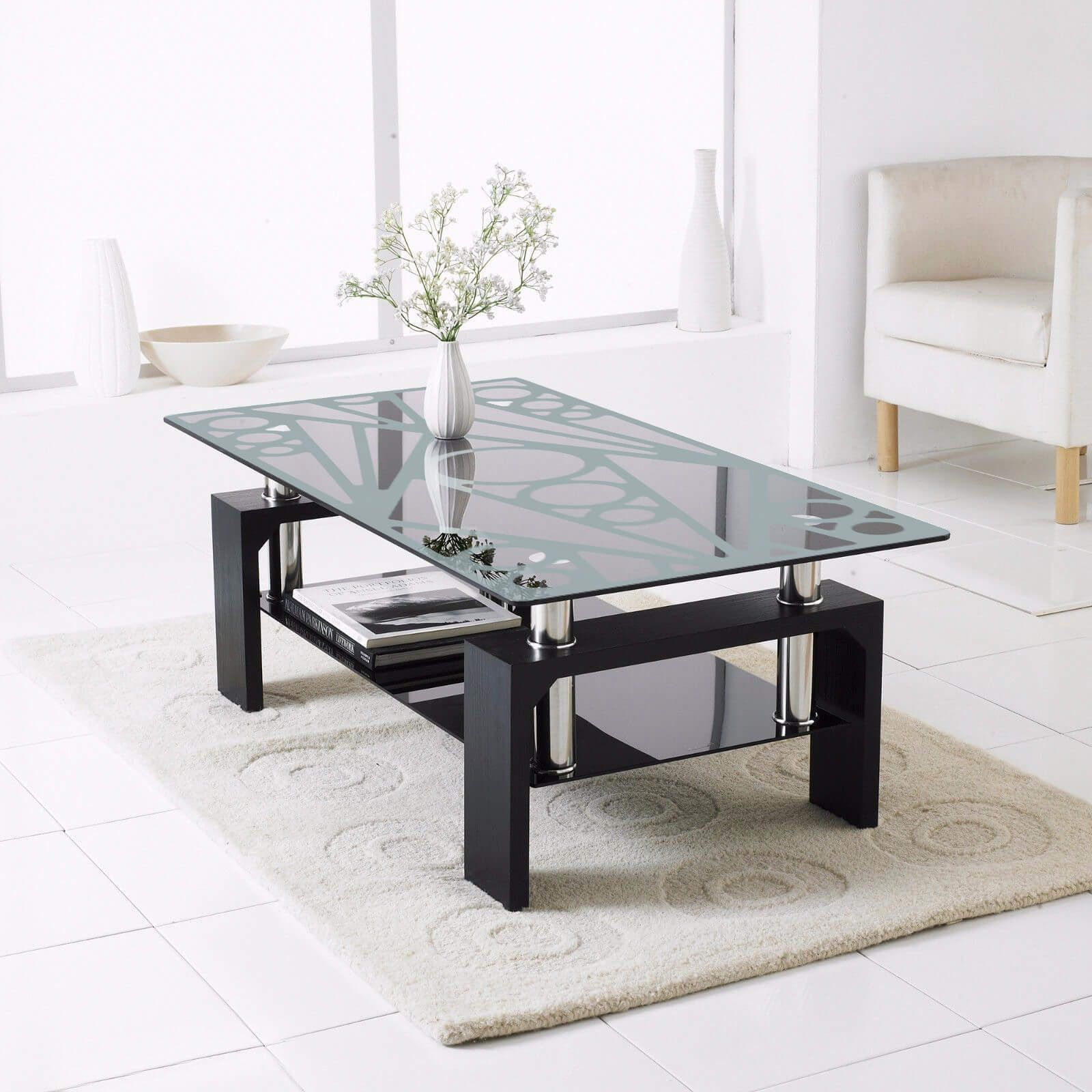 Etching Designer Glass Dining Table Top Fgdted Perabot Coffee Table Black Glass Coffee Table Living Room Table [ 1600 x 1600 Pixel ]