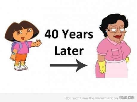 Dora The Explorer and Consuela.