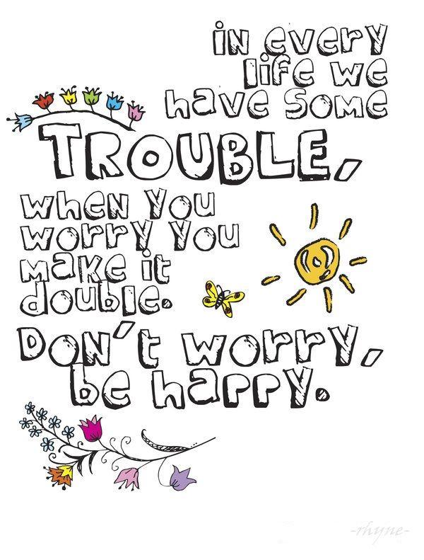 Bobby Mcferrin Bob Marley Don T Worry Be Happy Songlyricsquote S Quote Words Music Lyrics