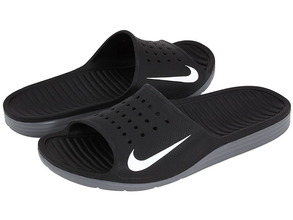 0d2aa254bf91e1 NIKE NIKE - SOLARSOFT SLIDE (BLACK WHITE) MEN S SANDALS.  nike  shoes