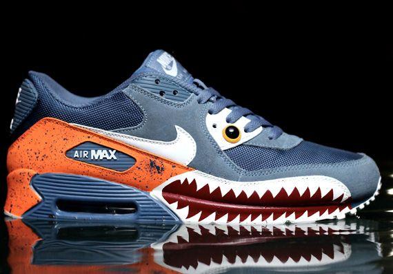 """free shipping faaa1 e0ab5 Nike Air Max 90 """"Piranha"""" Customs By Emilio Zuniga"""