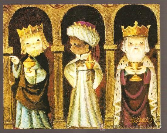 Felicitaciones De Navidad Con Los Reyes Magos.Felicitacion Navidad Juan Ferrandiz Castells Reyes Magos