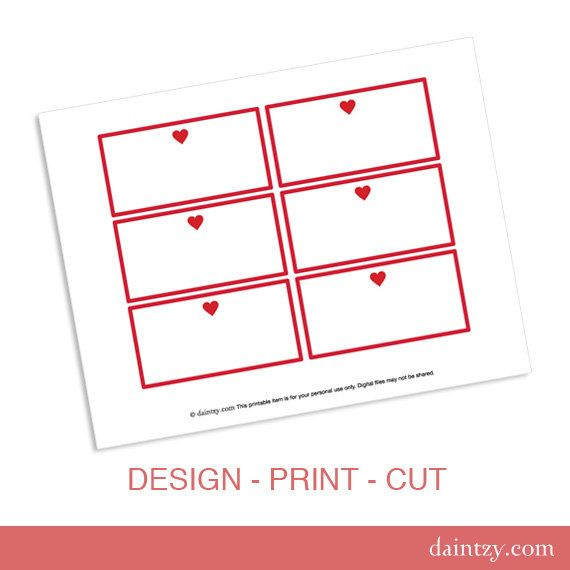 Candy Buffet Labels Printable Template