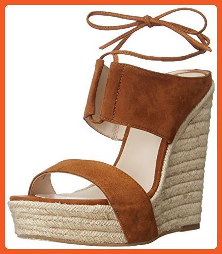 5e8c0010e11af Pelle Moda Women's Olive Wedge Sandal, Cognac, 9 M US - Sandals for ...