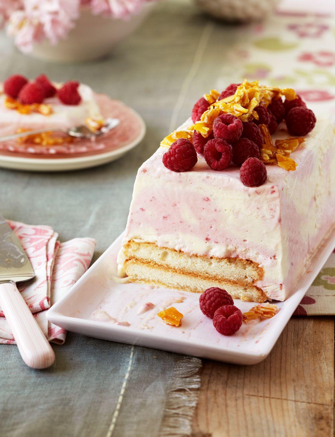 Frozen raspberry trifle terrine Recipe Raspberry