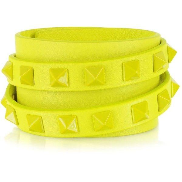 2054082e4242 Valentino Garavani Double Rockstud Wrap Bracelet found on Polyvore ...
