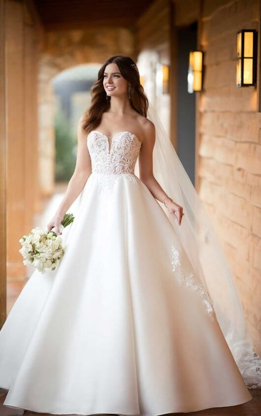 c6b0ba8e Courtesy of Essense of Australia wedding dresses; D2486 Modern Sheer Ballgown  Wedding Dress by Essense of Australia