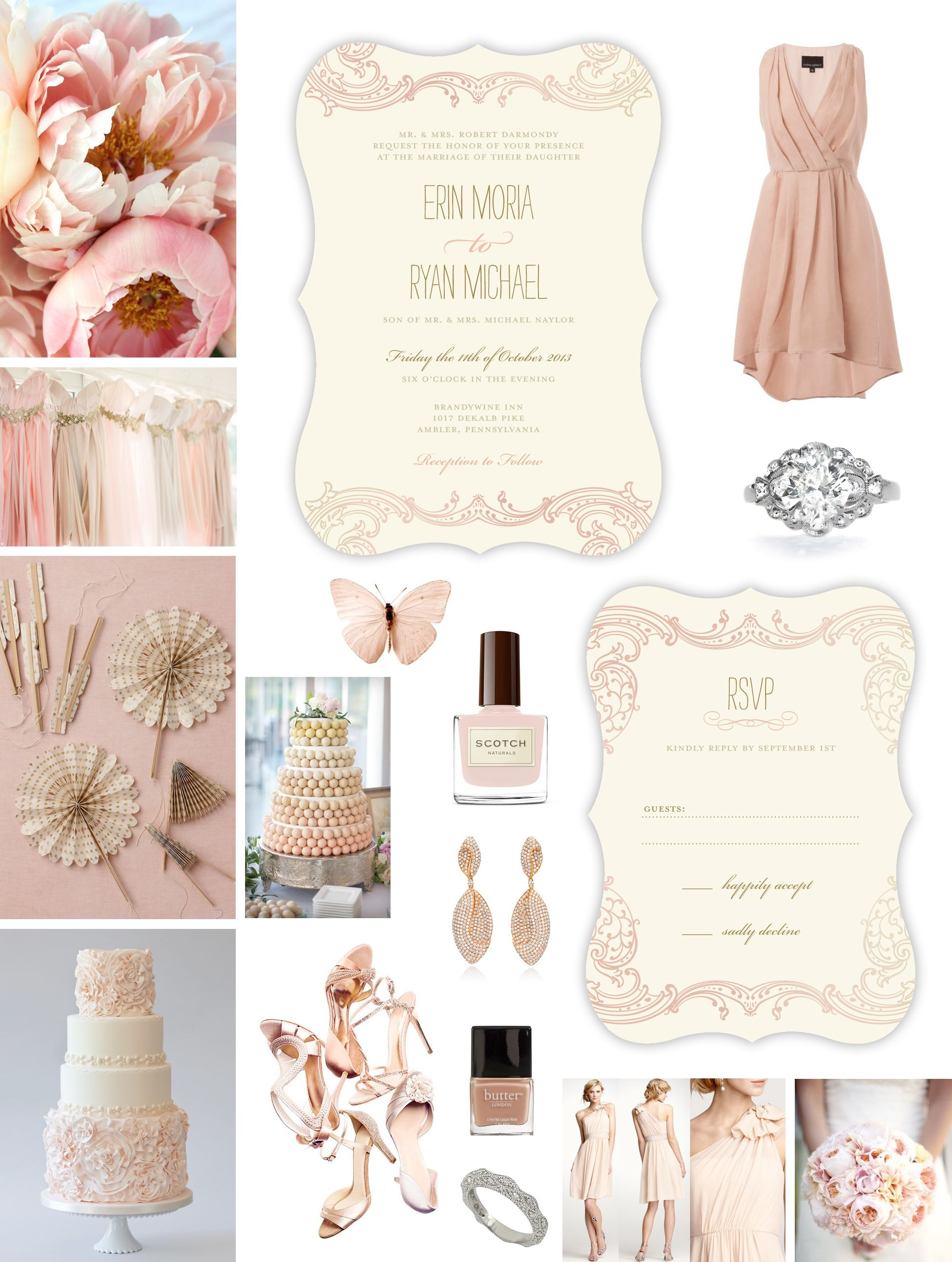 Neutral Wedding Theme -- Ballet Pink & Cream Wedding Inspiration ...
