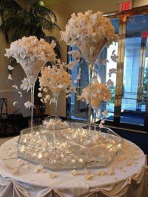 Jumbo Martini Glass Vase Wedding Centerpiece