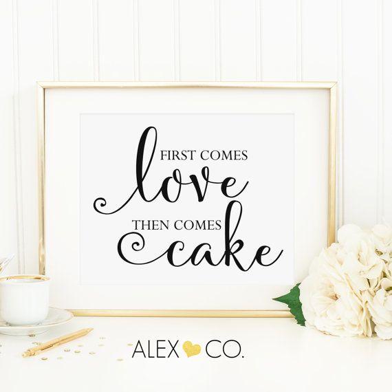 Printable Cake Sign Cake Printable Cake Sign Printable Wedding